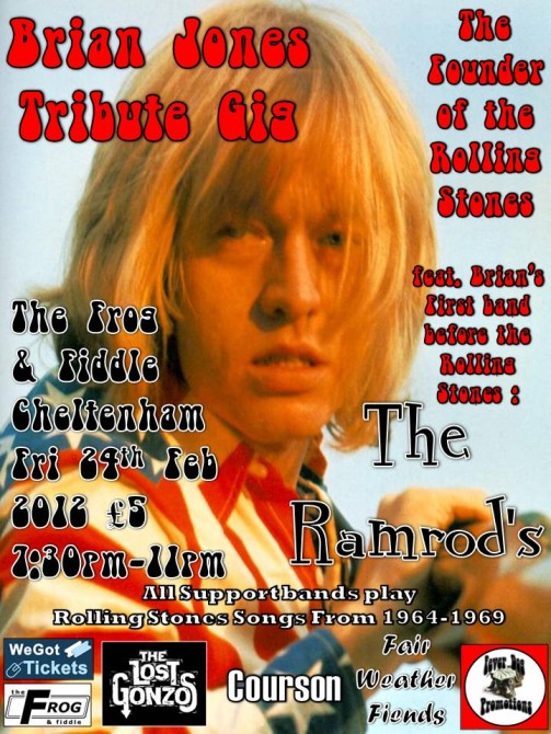 Brian Jones Tribute Gig The Ramrods