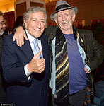 Keith & Tony Bennet at Bruce Willis' birthday party, NY, March 21st, 2015