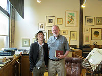 Minneapolis: Mick visiting Laurie's Bookshop - June 01, 2015