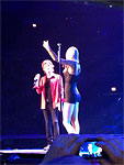 The Rolling Stones on stage, Mick and Taylor Swift, Chicago, United Center, June 3 2013