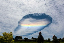 Almost tongue shaped cloud structures above australian skies...