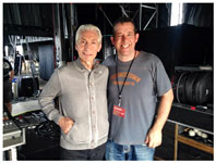Rolling Stones Indianapolis, July 4, 2015 - Charlie meets Rascal Flatts drummer Jim Riley