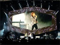 Comerica Park Stadium - The Rolling Stones on stage, Detroit, July 8, 2015