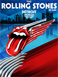 Rolling Stones, Detroit, July 8, 2015 - Poster