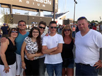 Our friend Todd & his family! Thanks for sending it in, Todd! Rolling Stones, Buffalo, July 11, 2015