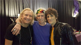 The Rolling Stones in Nashville, Tennessie - Backstage with Joe Walsh - June 17, 2015