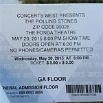 Ticket for the Fonda Theatre Show: $5 ! - LA, 20.05.2015