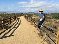 Mick hiking near San Diego, May 23, 2015