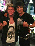 Before the show - Ronnie with Niall Horan of One Direction
