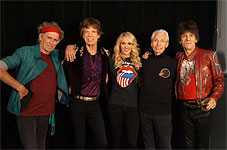 The Rolling Stones and Carrie Underwood after the show, Canada, May 25 2013