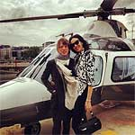 Glastonbury 2013 - Mick and L'Wren Scott on the way