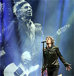 The Rolling Stones on the Pyramid stage at Glastonbury 2013 by Brian Rasic