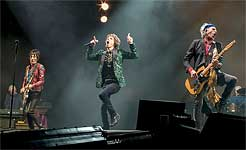 The Rolling Stones on the Pyramid stage at Glastonbury 2013