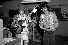 Keith, Ronnie and Stu visiting Gibson Guitar in Kalamazoo, July 1975