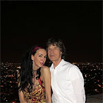 Mick and L'Wren Scott on holiday in Jodhpur, India, October2013