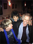 Ronnie Wood, Mick Taylor and Keith Richards out for lunch in NYC, November 11 2013