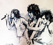 Mick, Ronnie, And Keith Study, 1979