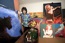 Ronnie Wood and his artwork