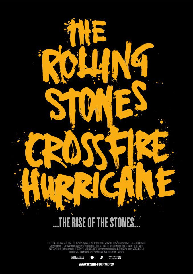 The new Rolling Stones documentary CROSSFIRE HURRICANE will be beamed via satellite to over 250 screens across Europe, and feature a live stream of the band arriving at the London premiere