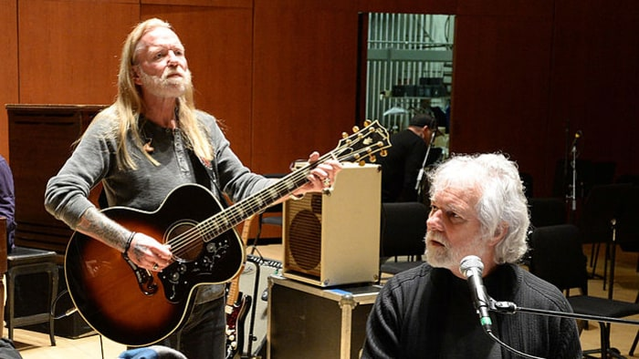 Gregg and Chuck, both formerly Allman Brothers, pic by gettyimages