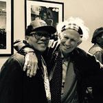 Keith met Ivan Neville in NYC, Feb. 2017