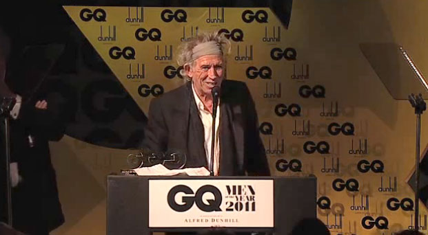 Keith GQ Writer of the year award