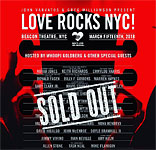 Keith & many others at Love Rocks NYC benefit concert