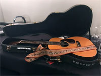 Keith will be playing this 1965 Martin 00-21 tonight with his treasured strap from Gram Parsons!