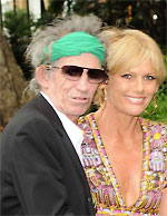 Keith Richards + wife Patty Hansen, who won battle against cancer