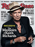 Rolling Stone took the occasion of Keith's bio, Life, for an article and interview plus a cover with his portrait for the upcoming October 28, 2010 issue of Rolling Stone.