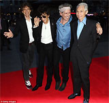 London - the red carpet at the premiere of Crossfire Hurricane