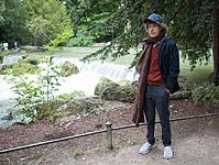 Mick enjoys a stroll in the Englisher Garten, Munich