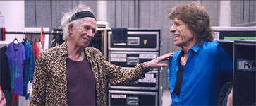 Mick and Keith backstage South America tour 2016
