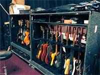Mick's guitars at rehearsals