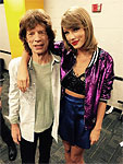 Mick and Taylor Swift, Nashville, September 26, 2015