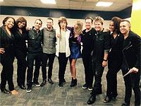 Mick and Taylor Swift, Nashville, September 26, 2015