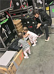 Ronnies girls at rehearsals - starting them early