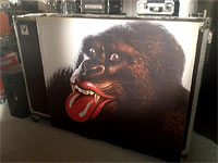 Boxcase with the Grrr!orilla from the rehearsals in France 2012