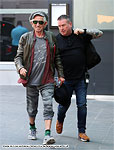 The Rolling Stones arriving in Manchester, June 5, 2018