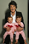 Lucky Ronnie and his lucky daughters