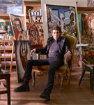 Ronnie in his studio in Hertfordshire - Photograph: Phil Fisk/The Observer