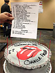 Set List and Cake
