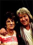Ronnie and Mick having a laugh backstage May 7