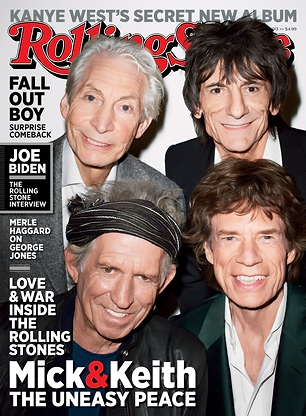 Rolling Stones on the cover of the Rolling Stone