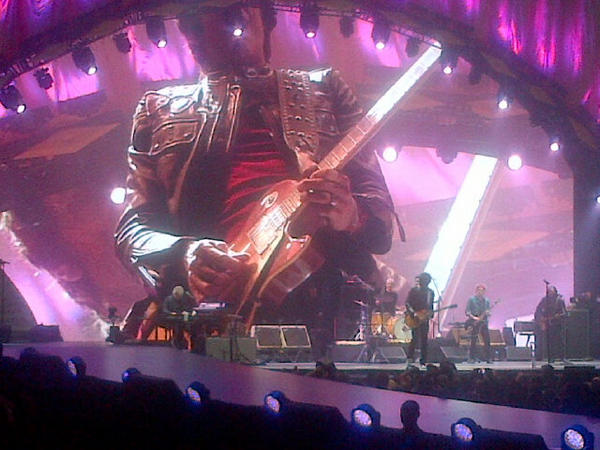 On stage in NY - the Rolling Stones!