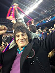 Ronnie and Sally watched the soccer match between Barca and AC Milan in Barcelona on Thuesday...