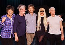 Lady Gaga Hangs Out With The Rolling Stones Ahead Of New Jersey Performance