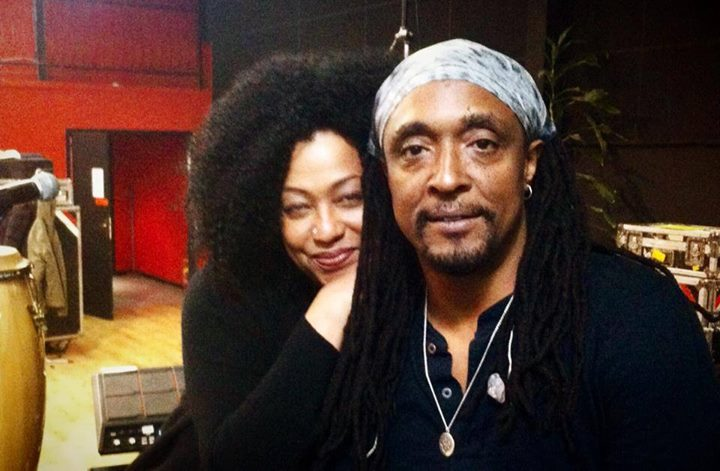 Lisa Fischer and Bernard Fowler at rehearsals in Paris, February 11, 2014