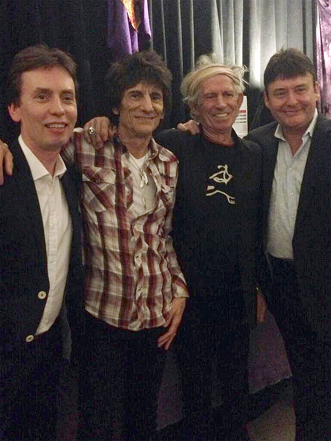 Ronnie twittered backstage pic with Keith, Ken Doherty and Jimmy White - Macau, March 9, 2014