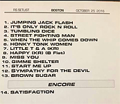 Private Kraft gig Boston, the Setlist, October 25, 2016